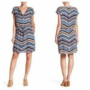 DR 2 daniel rainn tie dress striped XS New